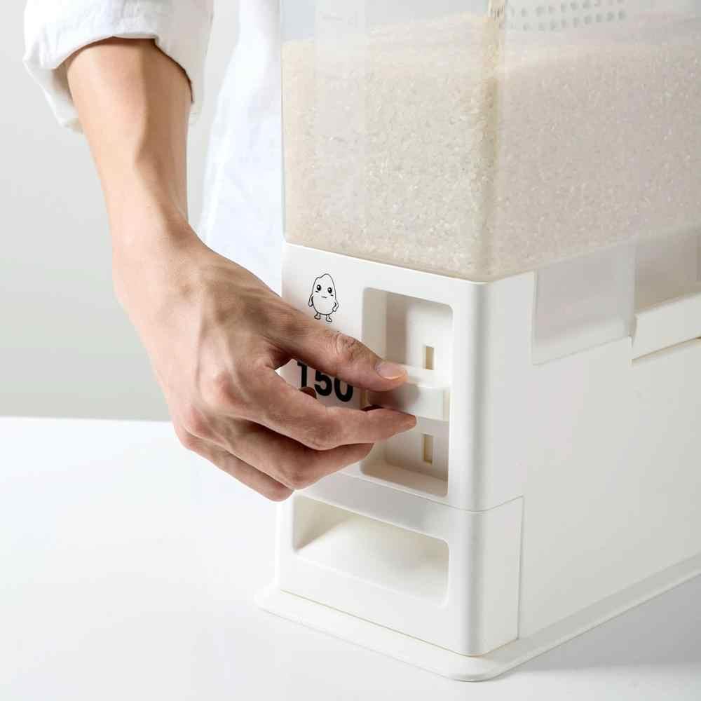 Horypt Recipiente de Grano Sellado Cubo de arroz Caja de Almacenamiento de arroz Contenedor dispensador autom/ático de arroz con Taza de arroz medible Cubo de arroz con medici/ón 26.5 Libras