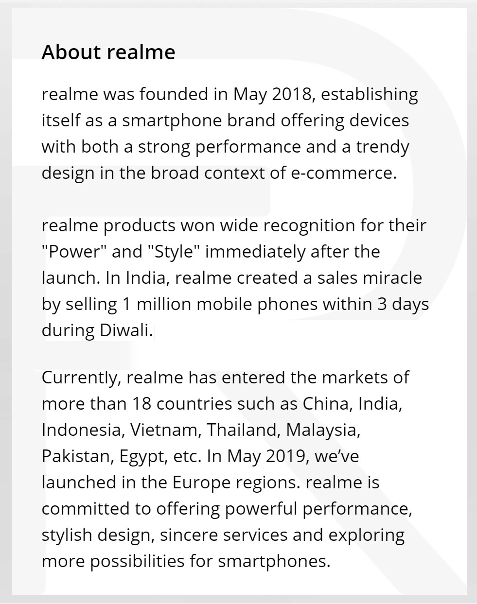 About realme