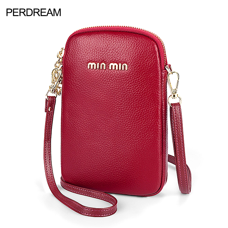 Leather mini mobile phone bag female messenger small bag 2020 new fashion wild leather vertical mobile phone bag