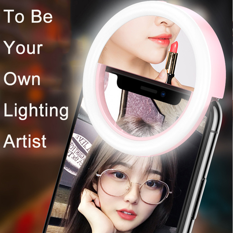 Mobile Phone Light LED Selfie Ring Artifact Beauty Studio Live Photography Flash for All Smartphone