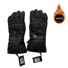 цена на Black 1 Pair Three Files Electric Heating Gloves Thermal Heated Gloves Five-Finger Winter Hand Warmer Ski Gloves For Men Women