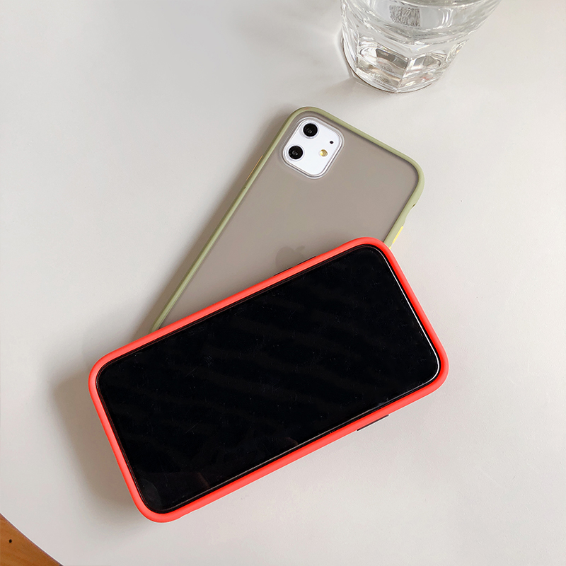 H05db5e0bf4844ab190dd2f013bc5b913p - Mint Hybrid Simple Matte Bumper Phone Case For iPhone 11 Pro Max XR XS Max 6S 8 7 Plus Shockproof Soft TPU Silicone Clear Cover