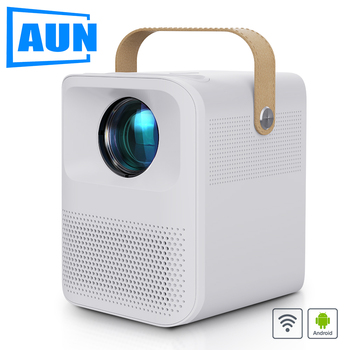 AUN Full HD Projector ET30. (Android 7800mAH Battery Optional) Portable Home Cinema MINI LED Projector 1080P. 4k video via HDMI