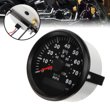 1PC 9-32VDC Car Truck Motorcycle 85MM GPS Speedometer Odometer Gauge 80MPH 130km/h For Vehicles Ships Yachts