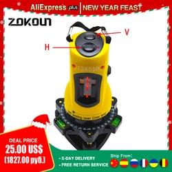 ZOKOUN M02H 360 degrees rotary slash functional self-leveling hight adjustable DIY economic 2 (1V, 1H) cross lines laser level