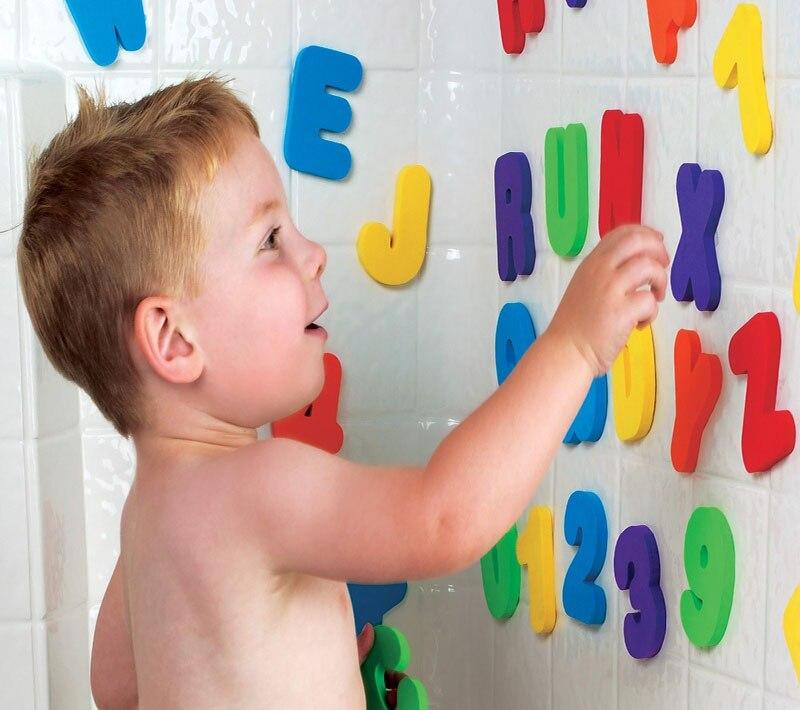 de banho, pasta, jardim de infância, palavra