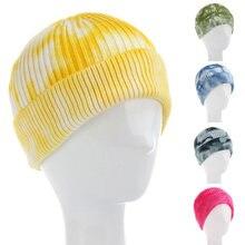 Шапка с защитой ушей на носках модная теплая вязаная шапка для