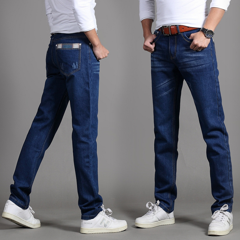 2019 Spring Jeans Men's New Style Korean-style Slim Fit Trend MEN'S Jeans Stretch Denim Trousers