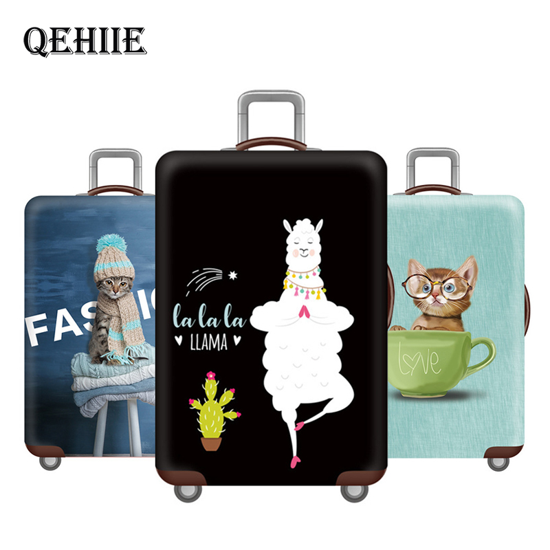 Invisible Zipper Elastic Luggage Protective Cover, Suitable18-32Inch  Trolley Case Suitcase Dust Cover Travel Accessories QEHIIE