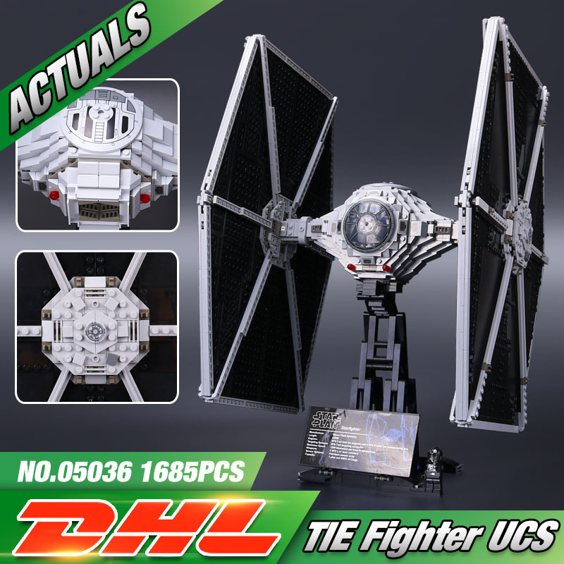 DHL 05036 Star Toys Wars The 75095 Star Tie Fighter Set Assembly Kits Toys Building Blocks
