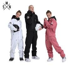 SMN лыжный костюм куртка цельный унисекс сноуборд комбинезон зимний водонепроницаемый дышащий теплый мужской женский лыжный Сноубординг комбинезон