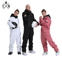 SMN Ski Suit Jacket One Piece Unisex Snowboard Overall Winter Waterproof Breathable Warm Men Women Skiing Snowboarding Jumpsuit