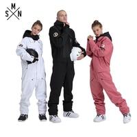 SMN Ski Suit Jacket One Piece Unisex Snowboard Overall Winter Waterproof Breathable Warm Men Women Skiing Snowboarding Jumpsuit