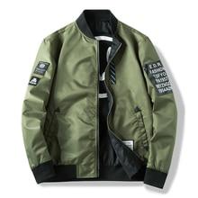 Men Bomber Jacket Slim Male Wear Casual Windbreaker Man Pilot Jacket
