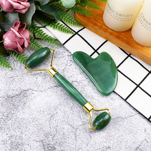 Gua Sha Board Set Natural Jade Roller Anti Aging Skin Care Firming Tightening Scraping Stone Blood Circulation Massager Tool