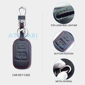 Image 3 - Real Leather Car Key Case For Chery Tiggo 3 5 Chery ARRIZO 3 7 Chery E3 E5 Bonus 3 Buttons Smart Remote Fob Cover Keychain Bag