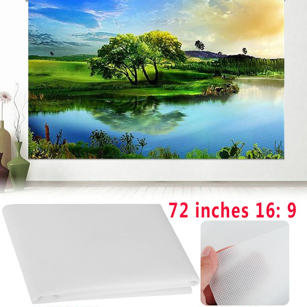 16:9 72 Inch White Projector Screen & for projector use for Movies Home Theater Accessories Projection Screen for Gift