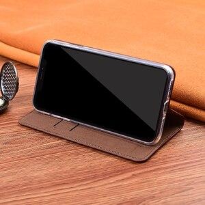 Image 4 - מגנט טבעי אמיתי עור עור Flip ארנק ספר טלפון מקרה כיסוי על לxiaomi Redmi הערה 9 S 9 פרו מקסימום Note9 S Note9s 64 GB