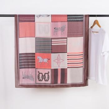 YILIAN Brand Fresh Print scarf Luxury Brand 180*90cm 100g Soft Silk Feeling Sunscreen Scarf Beach Travel Shawls and Wraps джемпер fresh brand fresh brand fr040ewdfpn2