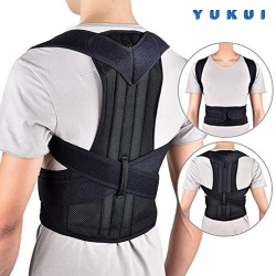 YUKUI Posture Corrector Back Posture Brace Clavicle Support Stop Slouching and Hunching Adjustable Back Trainer Unisex Back pain