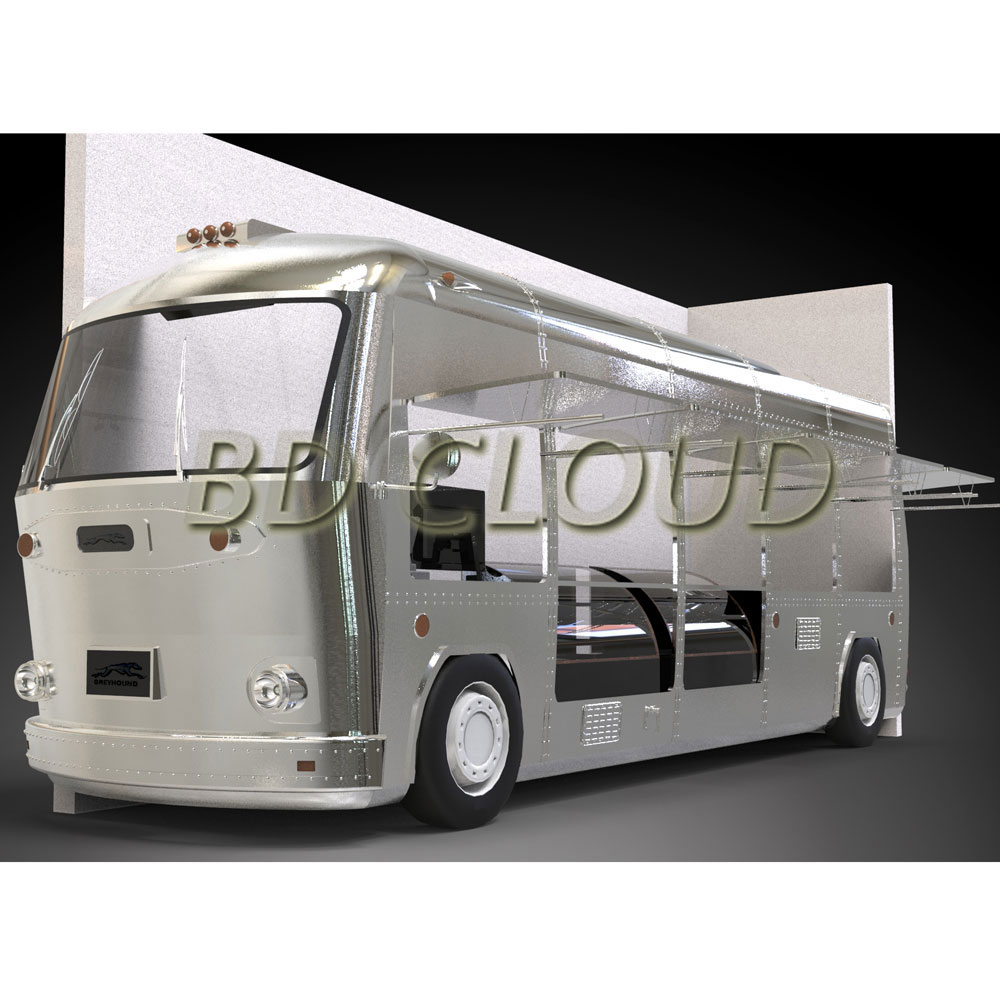 Factory Directly Supply Mobile Catering Food Trailer / Fast Food Truck For Sale