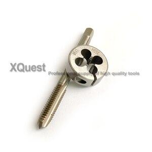 Image 5 - HSSE Metric screw Hand tap Split Die set M6 M6X1.25 M6X1 Fine thread Round dies taps M6X0.75 M6X0.5  for stainless steel