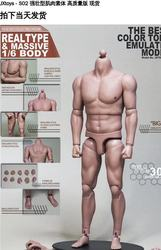 1/6 Scale Male Body Asian Strong Muscle Body Suitable for Ht Dam 1/6 Soldier Head Carving