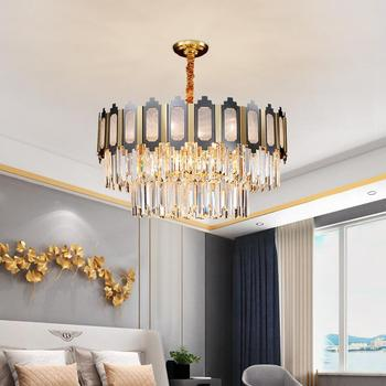 Retro LED crystal chandelier modern living room decoration lamp luxury designer mixed color luster lighting