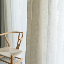 Modern  Japanese style linen curtain Thicken gauze curtain contracted bedroom wave window balcony gauze shading window screen