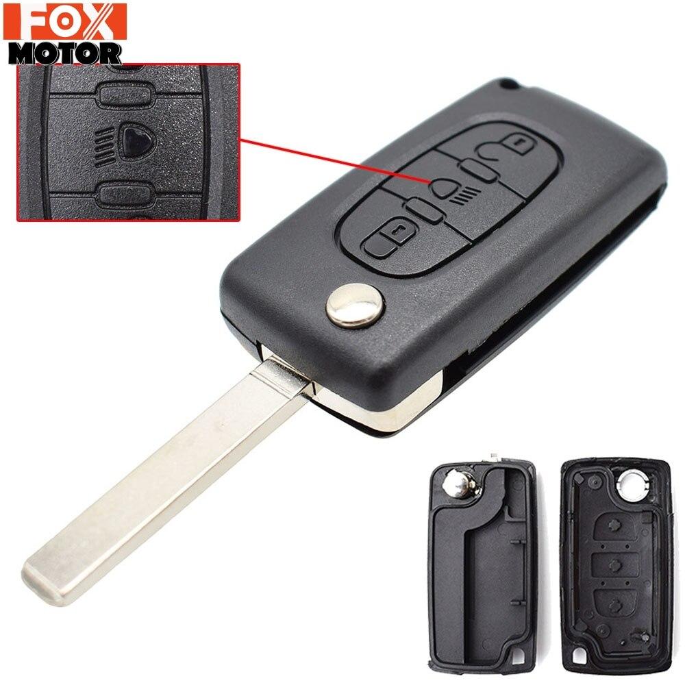 Для Citroen C2 C3 C4 C5 C6 C8 авто 3 кнопки флип пульт дистанционного ключа чехол оболочка Fob VA2 лезвие CE0523 Набор для ремонта ключей