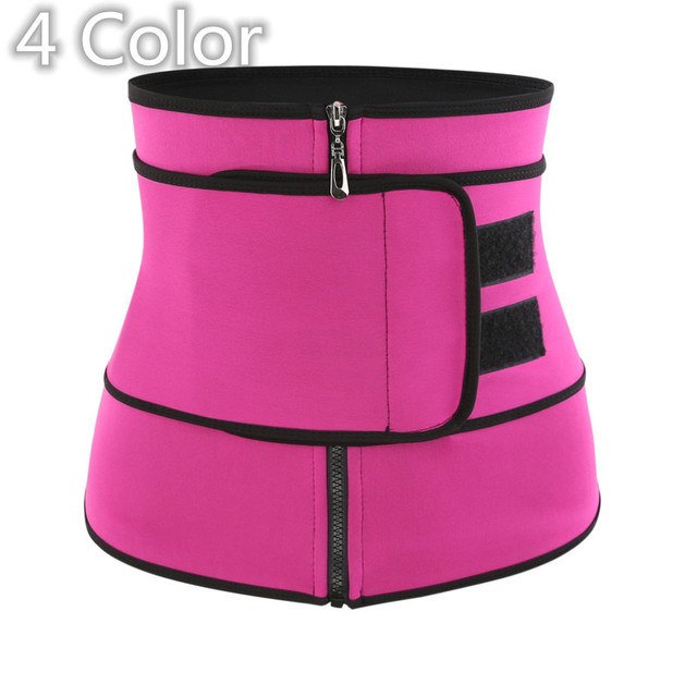 4 Colors Slimming Belt Corset Sweat Waist Trainer Slimming Body Shaper Women Tummy Control Belt Firm Breathable Health Care Tool