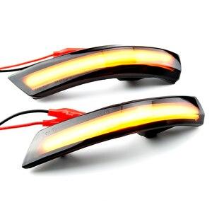 Image 3 - 2pcs Dynamic Turn Signal Light LED Side Wing Rearview Mirror Indicator Blinker Light For Ford Focus 2 3 Mk2 Mk3 Mondeo Mk4