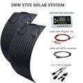 Solar Panel Kit 300W 200W 100W 12V 24V Flexible ETFE ODER PET 100 0W power Batterie Ladegerät Energie System Für Camping Boot RV