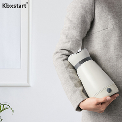 Kbxstart 100-240V Electric Kettle Mini Portable Travel Hot Water Heating Cup 316 Stainless Steel Heat Preservation Water Boiler