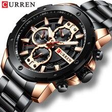 CURREN Sport Quartz Men's Watch New Luxury Fashion Stainless Steel Wristwatches