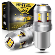 BMTxms 2Pcs Canbus Für Hyundai Solaris 2014 2015 2016 2017 2018 2019 LED DRL Tagfahrlicht Fahren Birne schwanz Lampe
