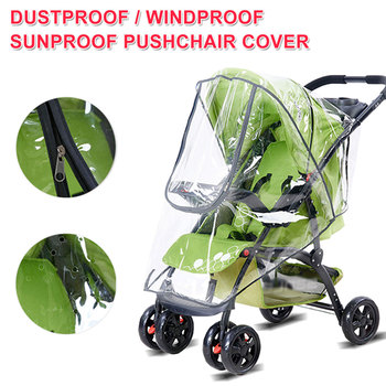 Waterproof Rain Cover Baby Stroller Rain Cover PVC Universal Wind Dust Shield For Strollers Pushchairs Stroller Accessories ranavoar baby stroller accessories universal waterproof rain cover wind dust shield zipper open for baby strollers pushchairs