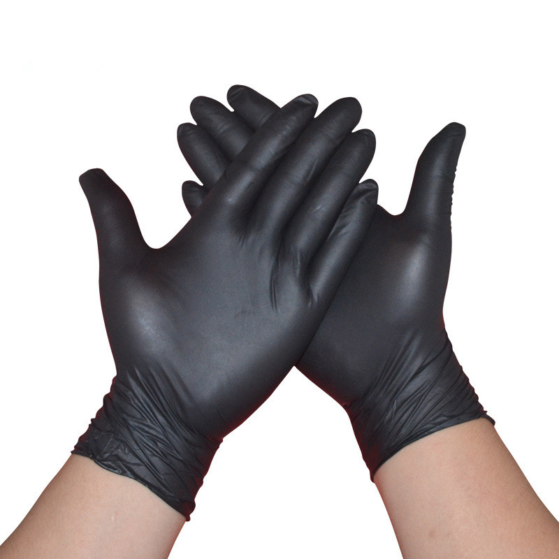 100pcs/lot Disposable Latex Medical Anti-virus Gloves(black)