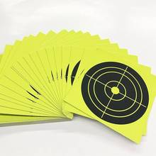 купить Wootile Yellow Shooting Target Shooting or Bullseye Target: for all Gun Rifle Pistol Air Gun BB gun  4 x 4 (100 per pack) дешево