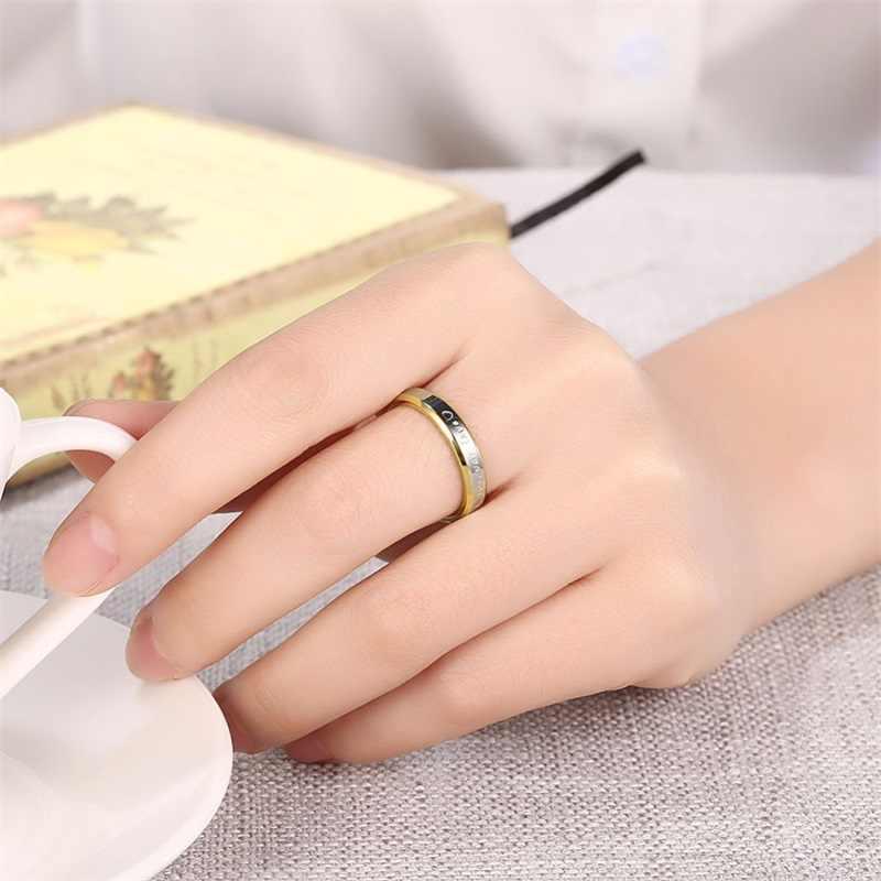 結婚式のカップルのための 18 18k ゴールド 925 シルバー代替フォーエバーラブハート柄リング恋人のギフトなしフェードファインジュエリー