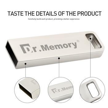 Pamięć Dr pamięć Usb 32GB 64GB pendrive Usb 2 0 cle pamięć usb 16 GB 8GB pamięć 4GB pamięć cel pamięć usb prezent tanie i dobre opinie Dr Memory CN (pochodzenie) Metal-029 Dysk flash Rohs pen drive Flash Silver