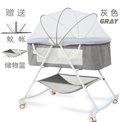 Crib Newborn Collapsible Cradle Bed Simple Portable Multifunction Small BB Bed Baby Sleeping Shaker