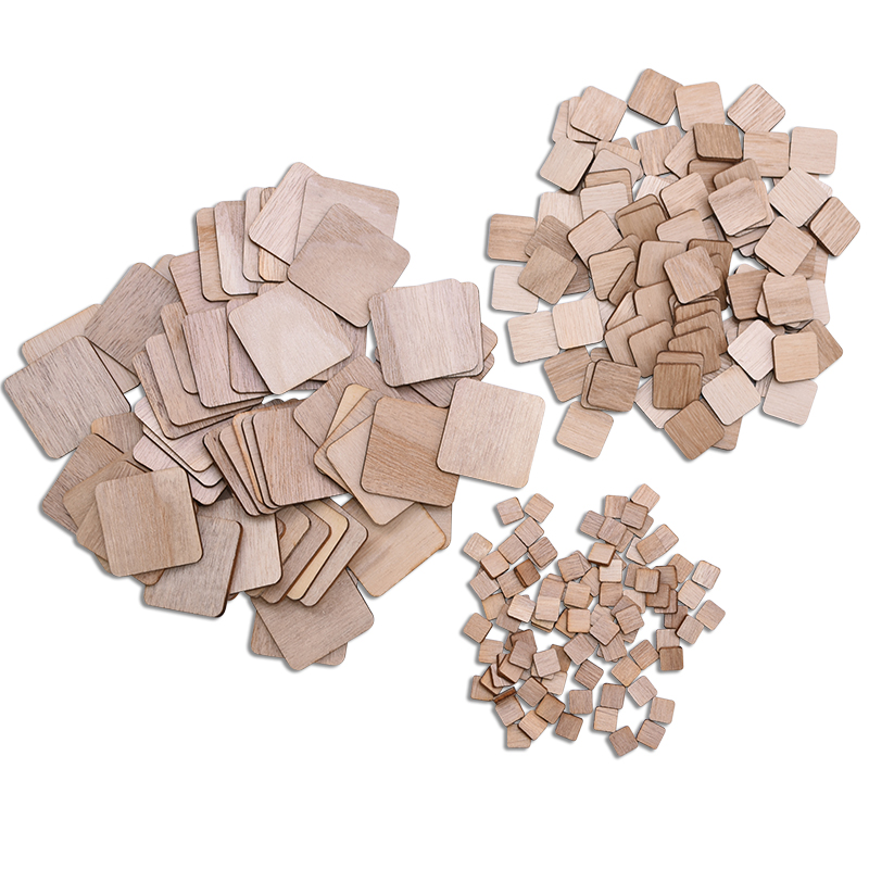 1-14cm Square Wood Chips Natural Unfinished Wood DIY Handmade Wooden Crafts Kids Painting Toy Wedding Birthday Party Decoration