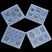 1PC UV Resin Pendant Craft DIY Transparent Liquid Silicone Combination Molds for DIY Making Finding Accessories