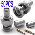 DHL/EMS 250 Комплект BNC 3-piece RG 60 коаксиальный кабель DIY обжимной PlugS-A8