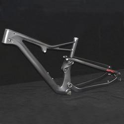 Suspensión 29er carbono MTB Marco de freno de disco BB92 mate carbono mtb cuadro de bicicleta 31,6mm 27,5 650B carbono-Mtb-Marco de bicicleta