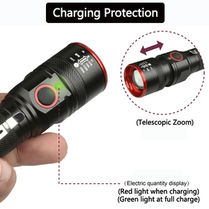 Image 2 - Waterproof 5200LM USB Rechargeable Flash light XML T6 Led Flashlight Zoomable 3 modes torch for 18650 with USB cable Camping z40