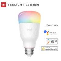 Yeelight bombilla LED inteligente 1S / 1SE RGB colorido E27 WIFI Control remoto por voz Global para Xiaomi APP Mi casa homekit