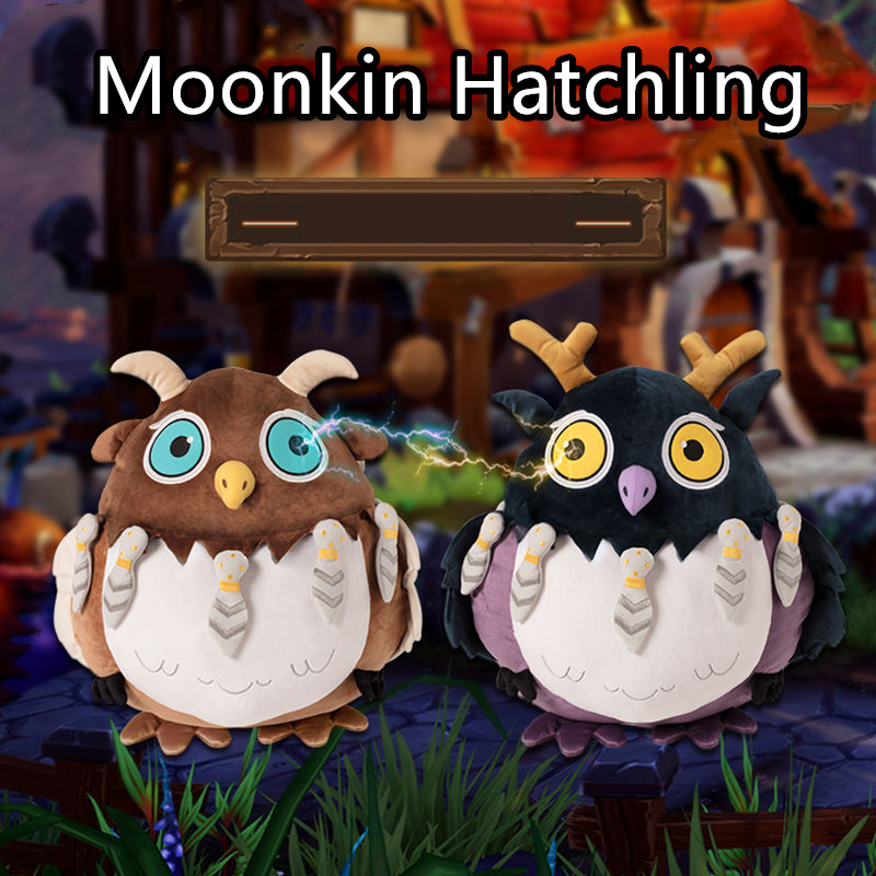50cm Moonkin Hatchling Plush Toys Dolls Moonkin Baby Cartoon Stuffed Animal POP WOW Plush Toy Moonkin Birthday Present