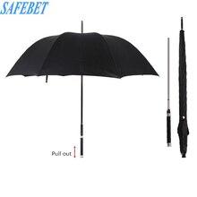 SAFEBET Paraguas automático con mango largo para hombre, sombrilla creativa de negocios con espada Guerrero, estilo de buena calidad